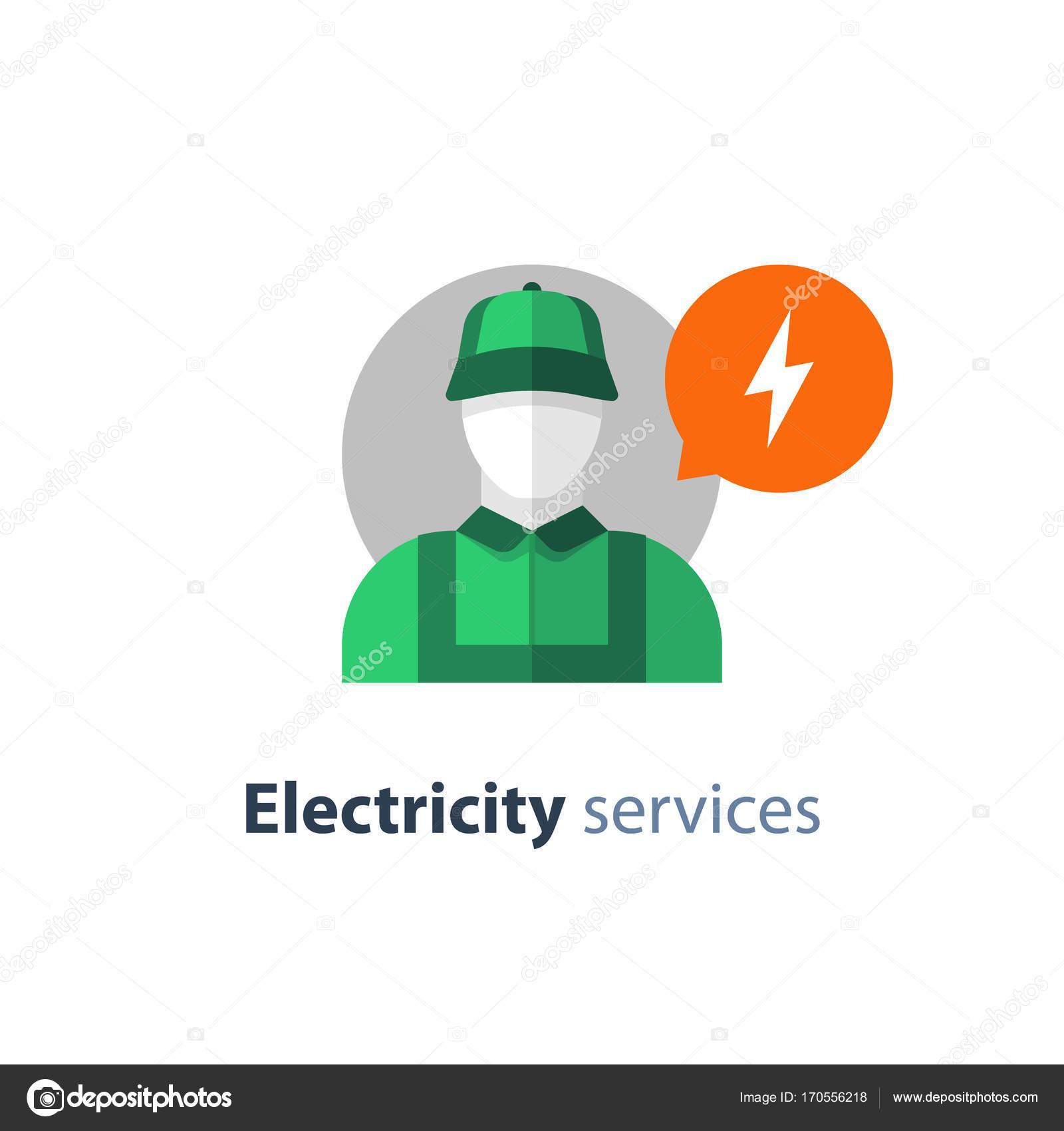 Elektriker-Symbol, Elektro-Mechaniker, Techniker Person ...