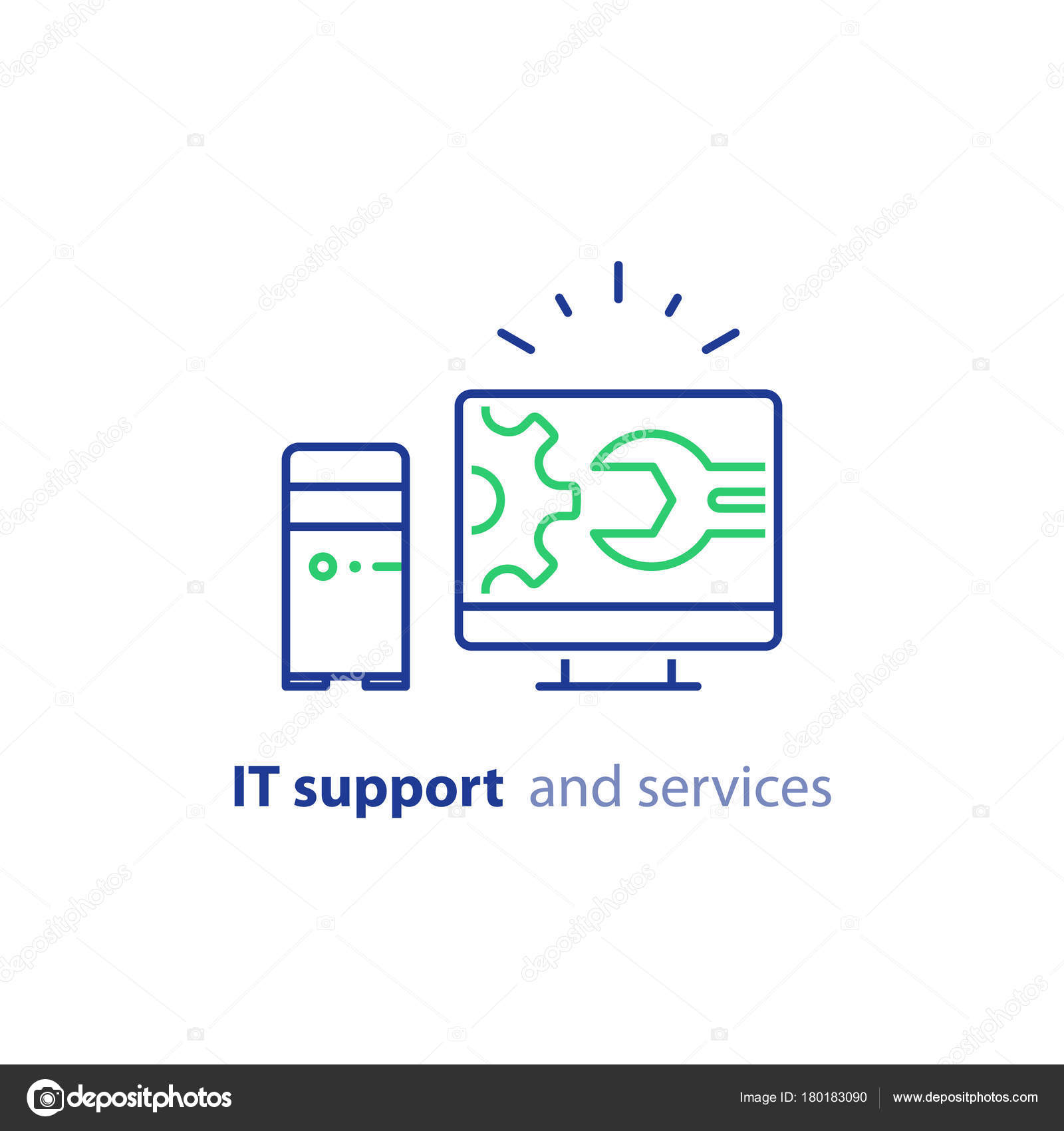 IT Support Concept Software Development System Administration Desktop Upgrade And Update Program Installation Vector Line Icon By Stmool