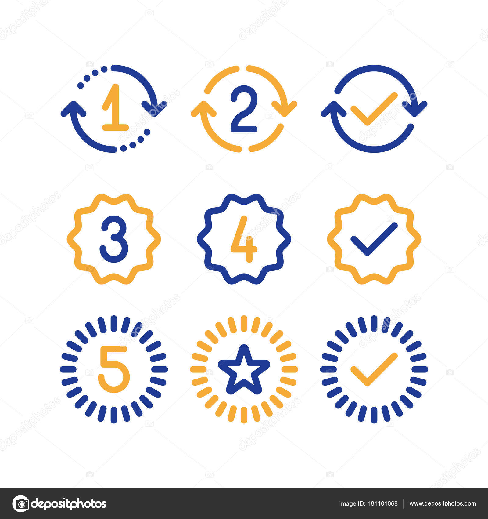 Warranty years signs guarantee service period approved mark warranty years signs guarantee service period approved mark line icons stock vector biocorpaavc Image collections