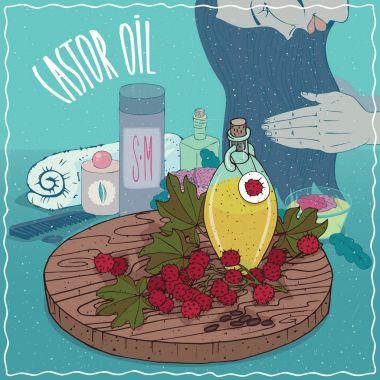 Castor oil used for hair care