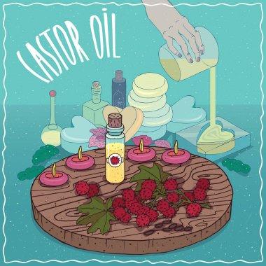 Castor oil used for soap making