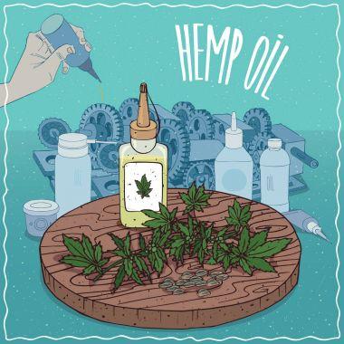 Hemp seed oil used as grease lubricant