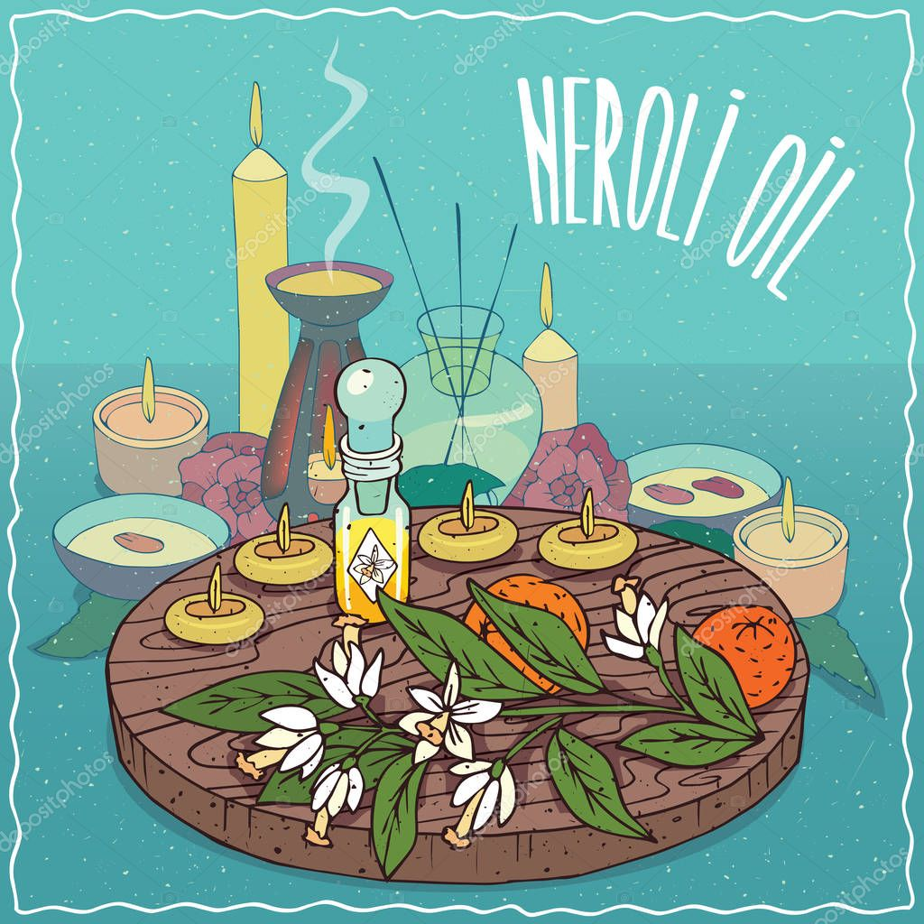 Neroli oil used for aromatherapy