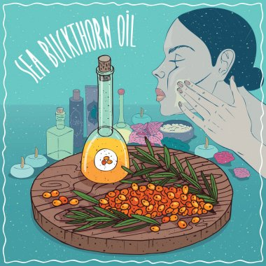 Sea buckthorn oil used for skin care