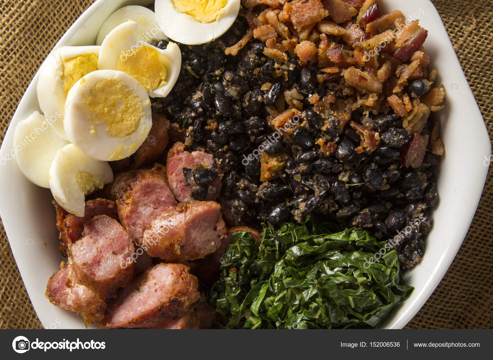 Tropeiro bean traditional brazilian food stock photo for Authentic brazilian cuisine