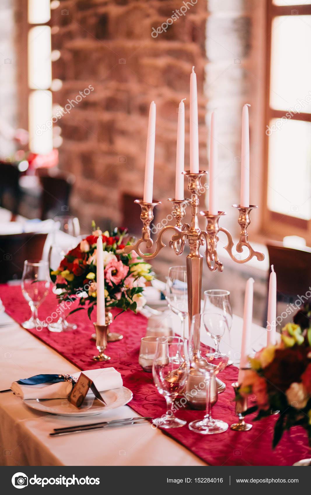Fesselnd Hochzeit Tisch Herzstück U2014 Stockfoto