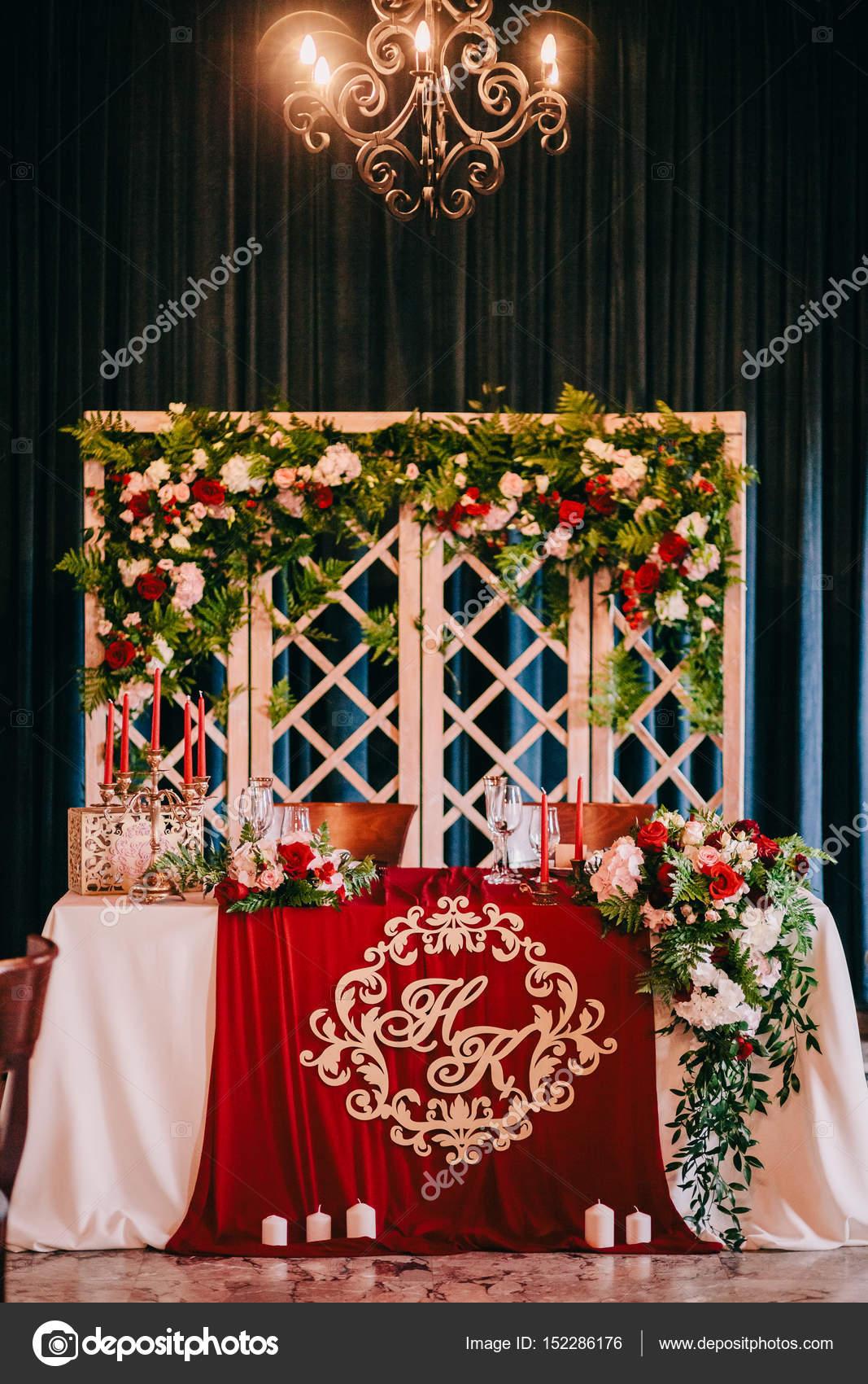 Hochzeit Tisch Herzstück U2014 Stockfoto
