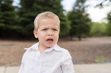 Young Toddler Portrait Outside Unsure