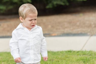 Young Toddler Boy Crying Outside