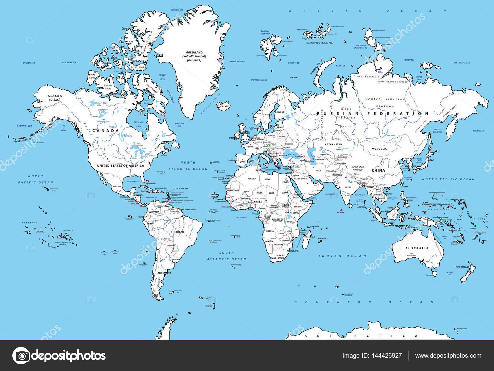 Detailed political world map stock vector zlatovlaska2008 144426927 highly detailed political world map with capitals rivers separated layers vector illustration vector by zlatovlaska2008 gumiabroncs Images