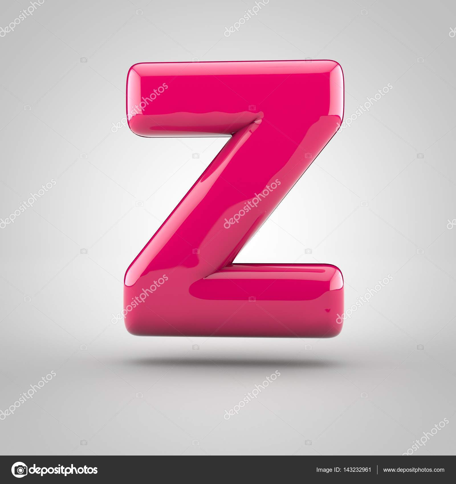 Glossy pink paint letter Z — Stock Photo © whitebarbie #143232961