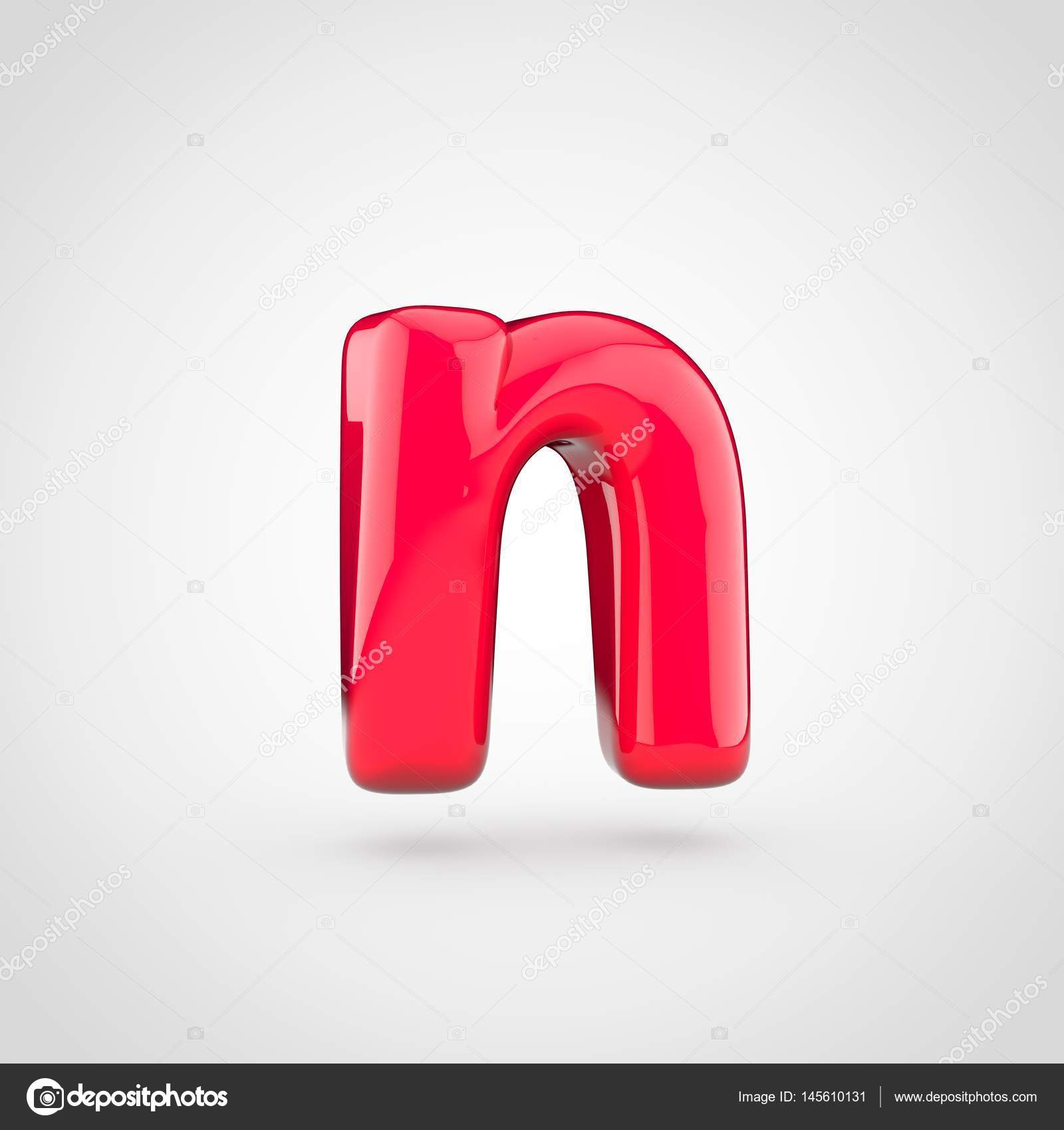 Red Volume Letter N Stock Photo C Whitebarbie 145610131