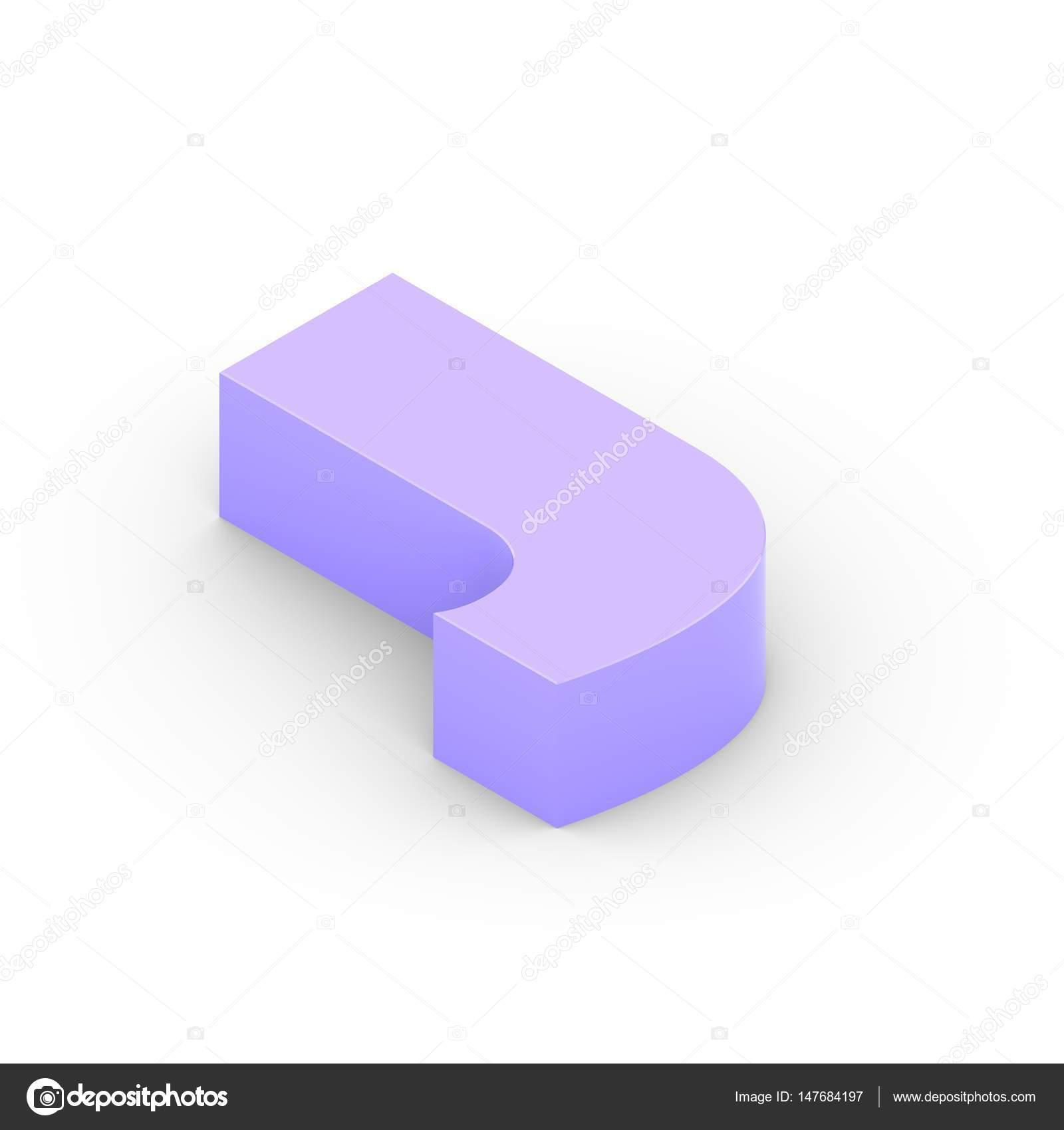 Isometrische violett Buchstaben j — Stockfoto © whitebarbie #147684197