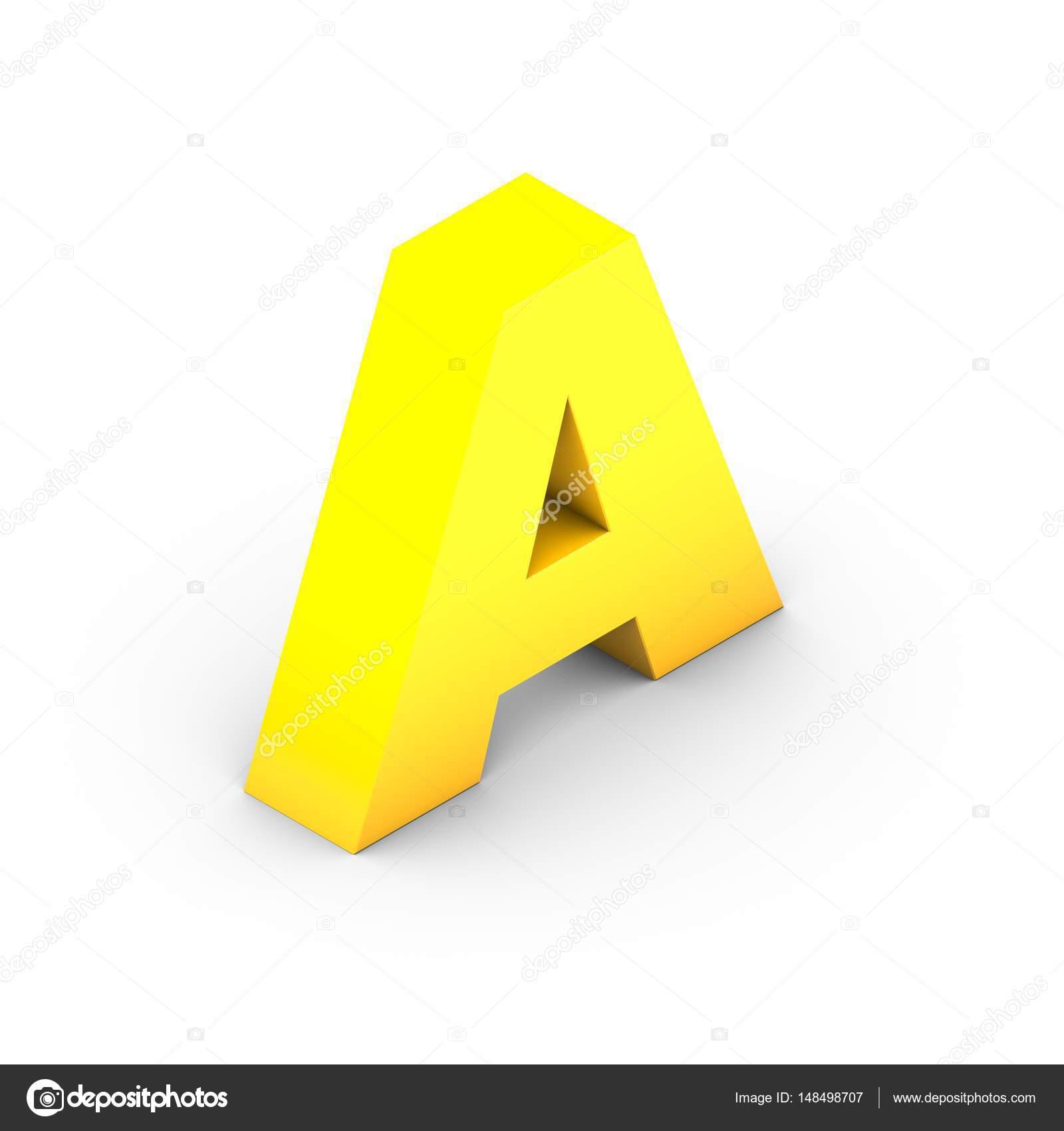 isometrische gelben Buchstaben A — Stockfoto © whitebarbie #148498707