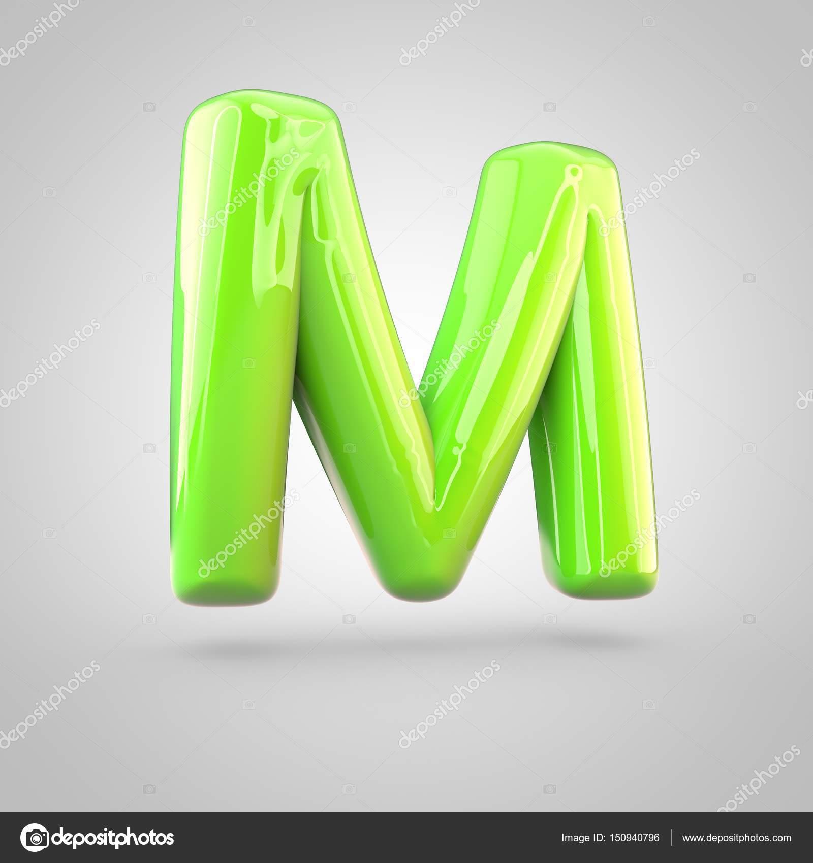 Glossy Paint Alphabet Letter M Stock Photo C Whitebarbie 150940796
