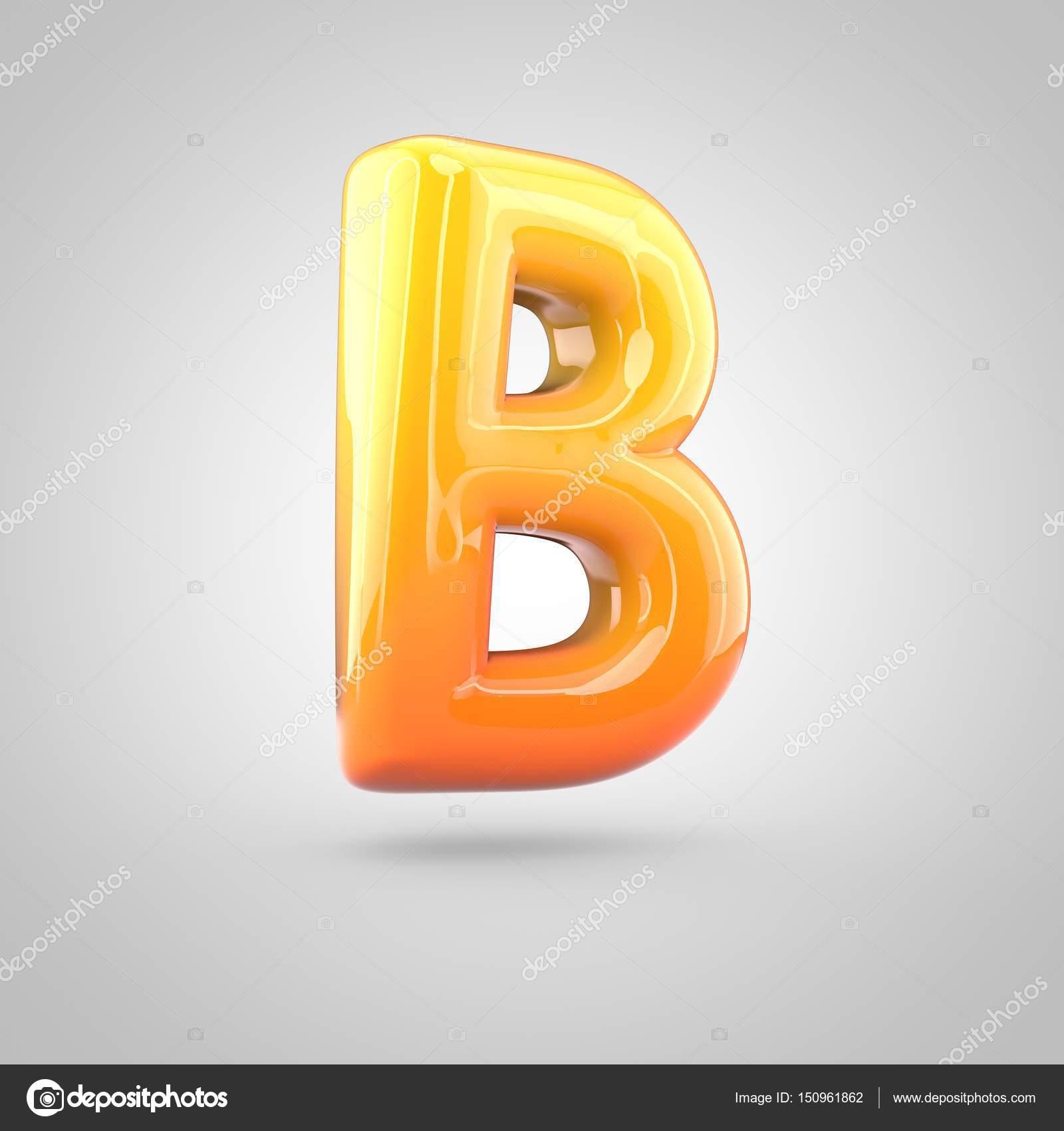 Orange And Yellow Alphabet Letter B Stock Photo C Whitebarbie