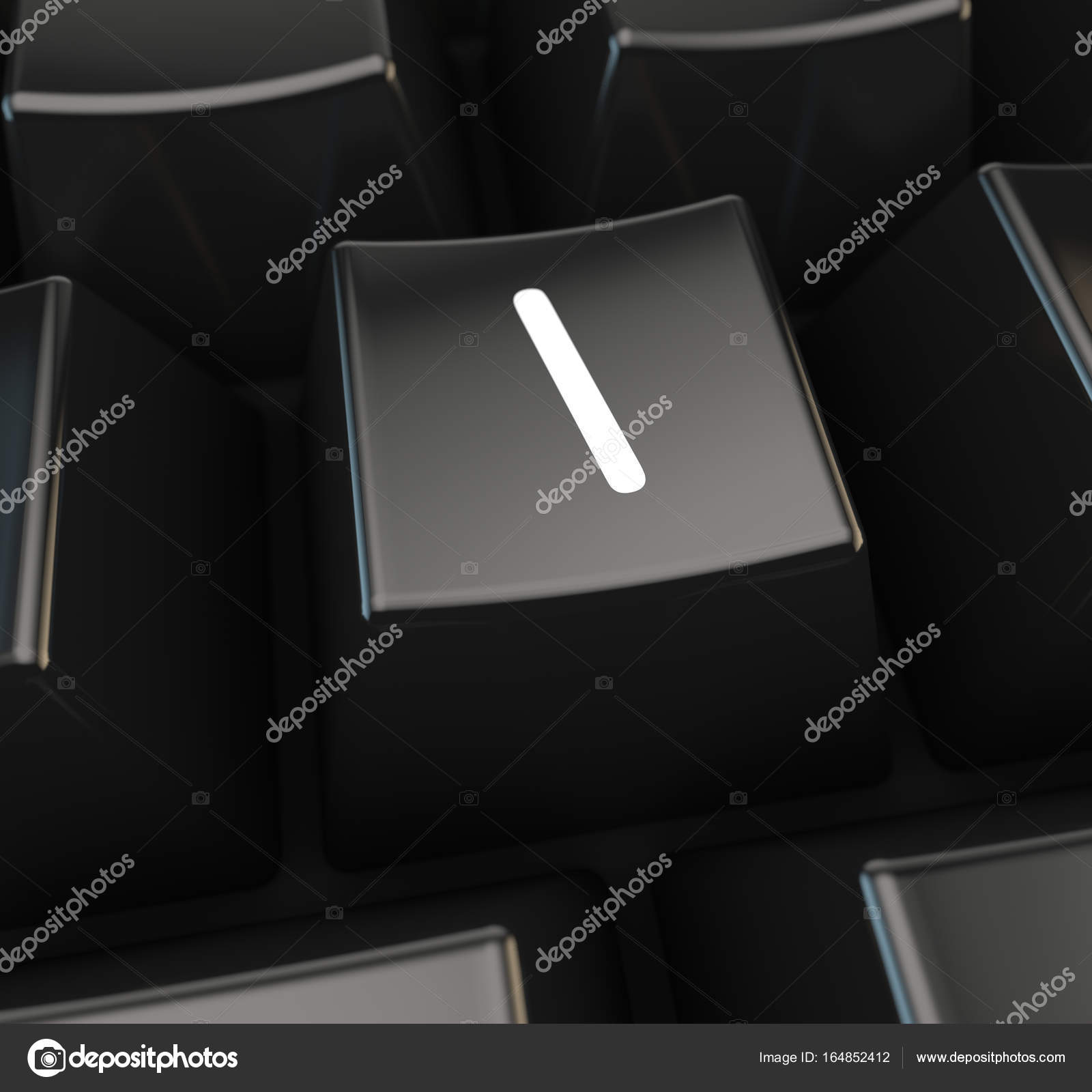 White Symbol On Black Keyboard Button Stock Photo Whitebarbie