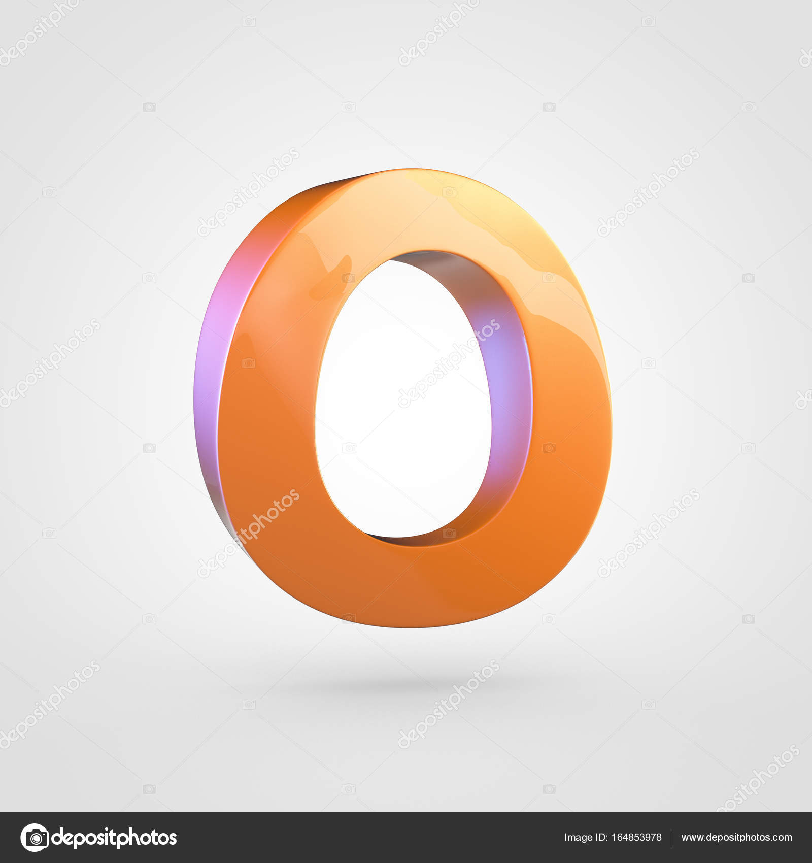 Uppercase Orange Letter O Stock Photo Whitebarbie 164853978