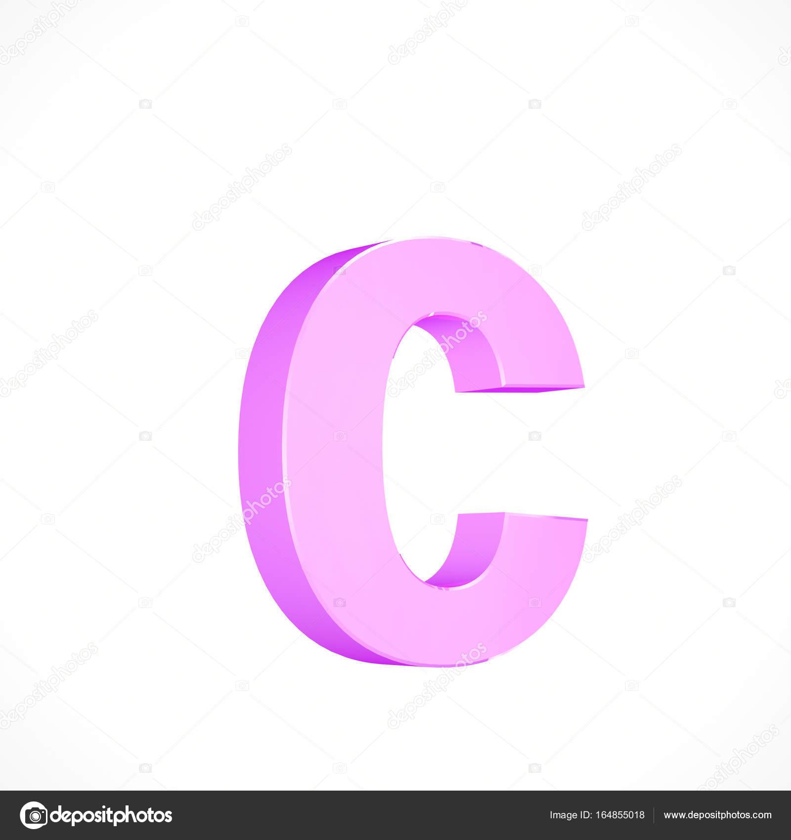 letra minúscula Rosa C — Foto de stock © whitebarbie #164855018