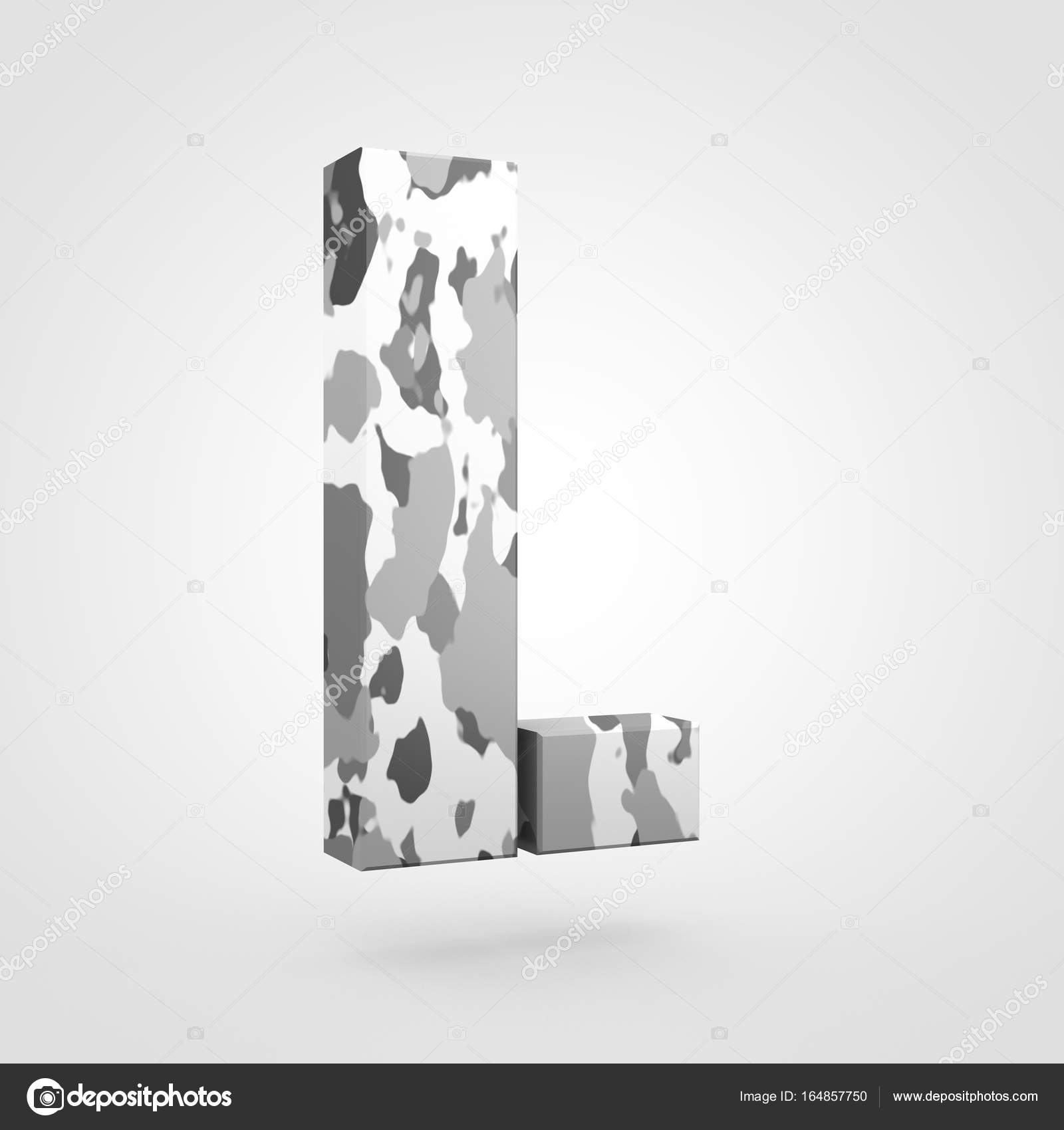 Camouflage Design Of Uppercase Letter L Stock Photo C Whitebarbie