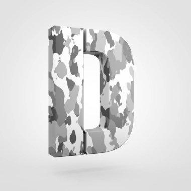 Camouflage design of uppercase letter D
