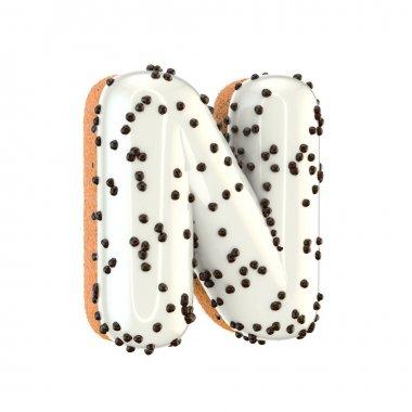 donut letter N uppercase