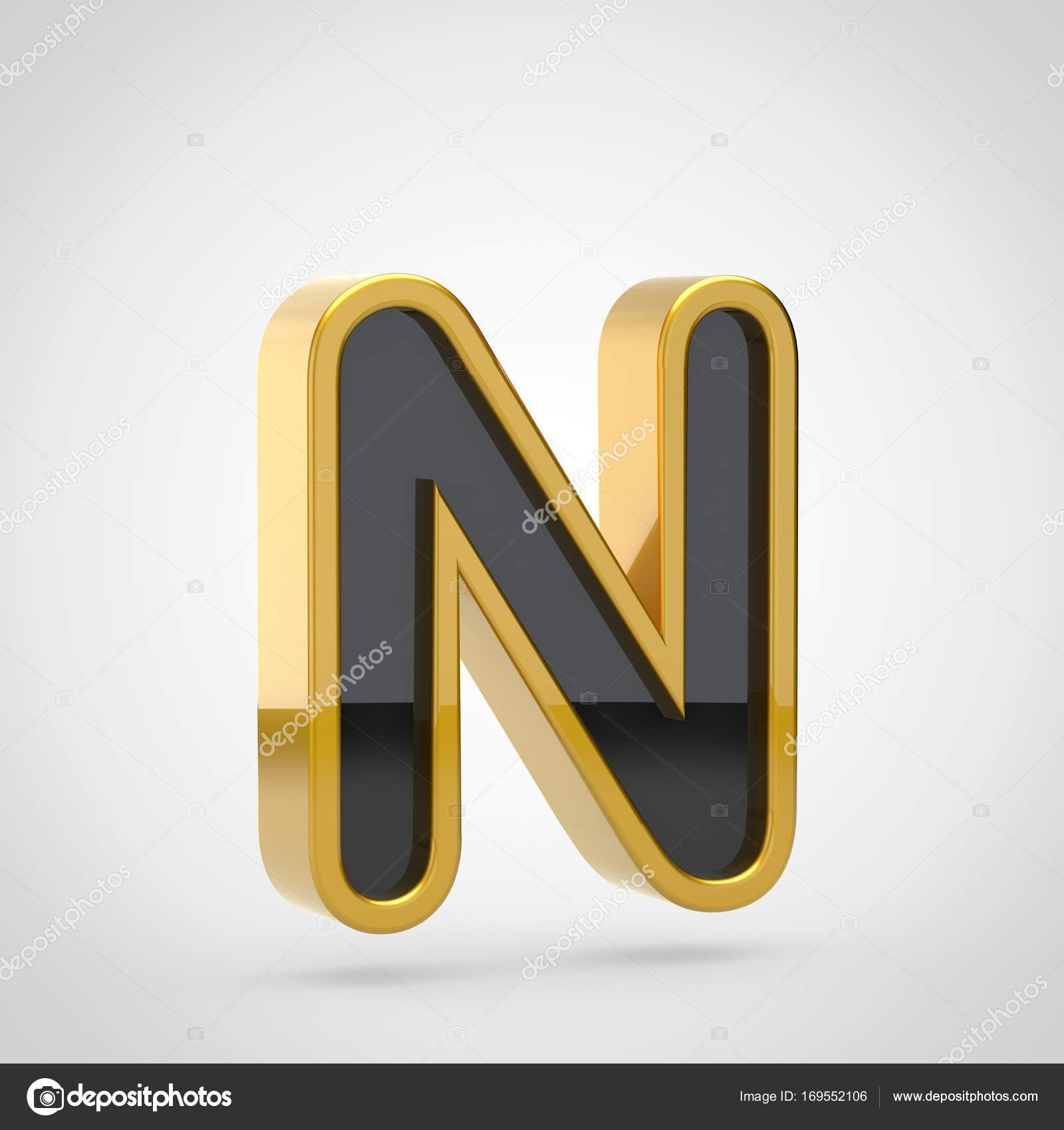 Black Letter N Uppercase Stock Photo C Whitebarbie 169552106