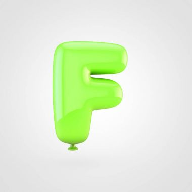 Balloon letter f uppercase