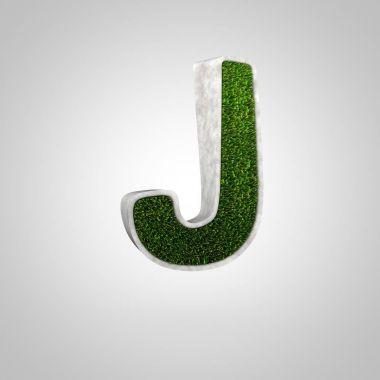 Grass letter J uppercase