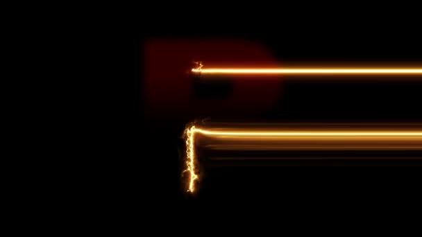 Letter R reveal. Fire plasma glowing motion wipes to center. 4K 60 fps video render footage