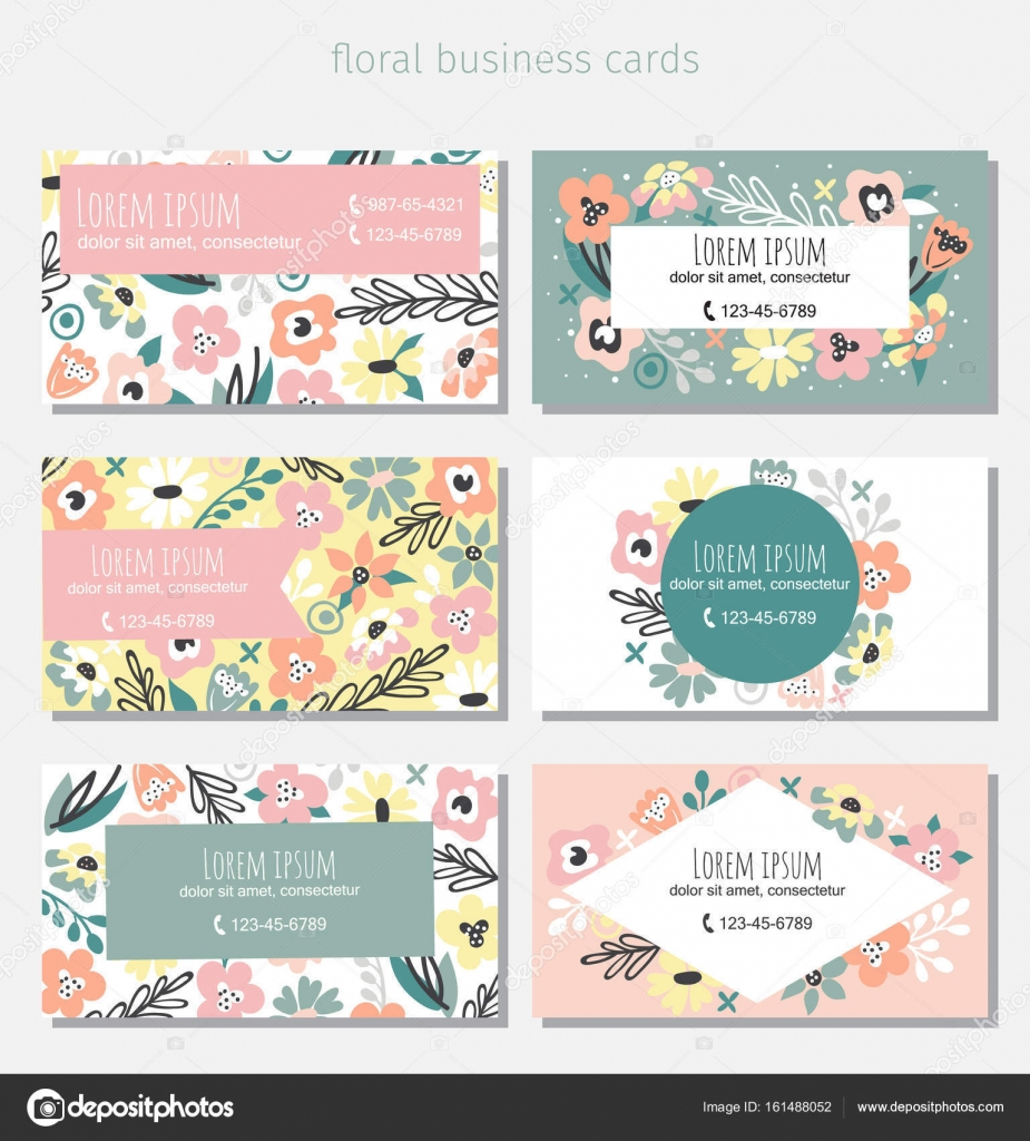 Floral business card template — Stock Vector © Yulia337 #161488052