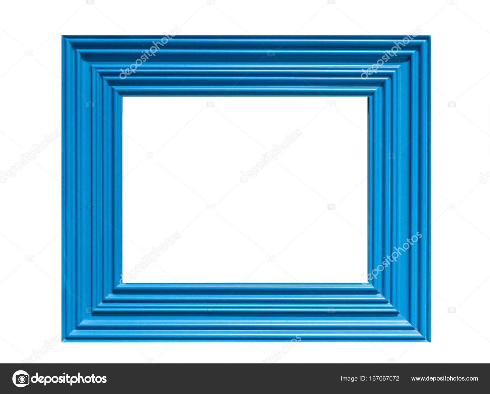 marco de color azul sobre fondo blanco — Fotos de Stock © LaKirr ...