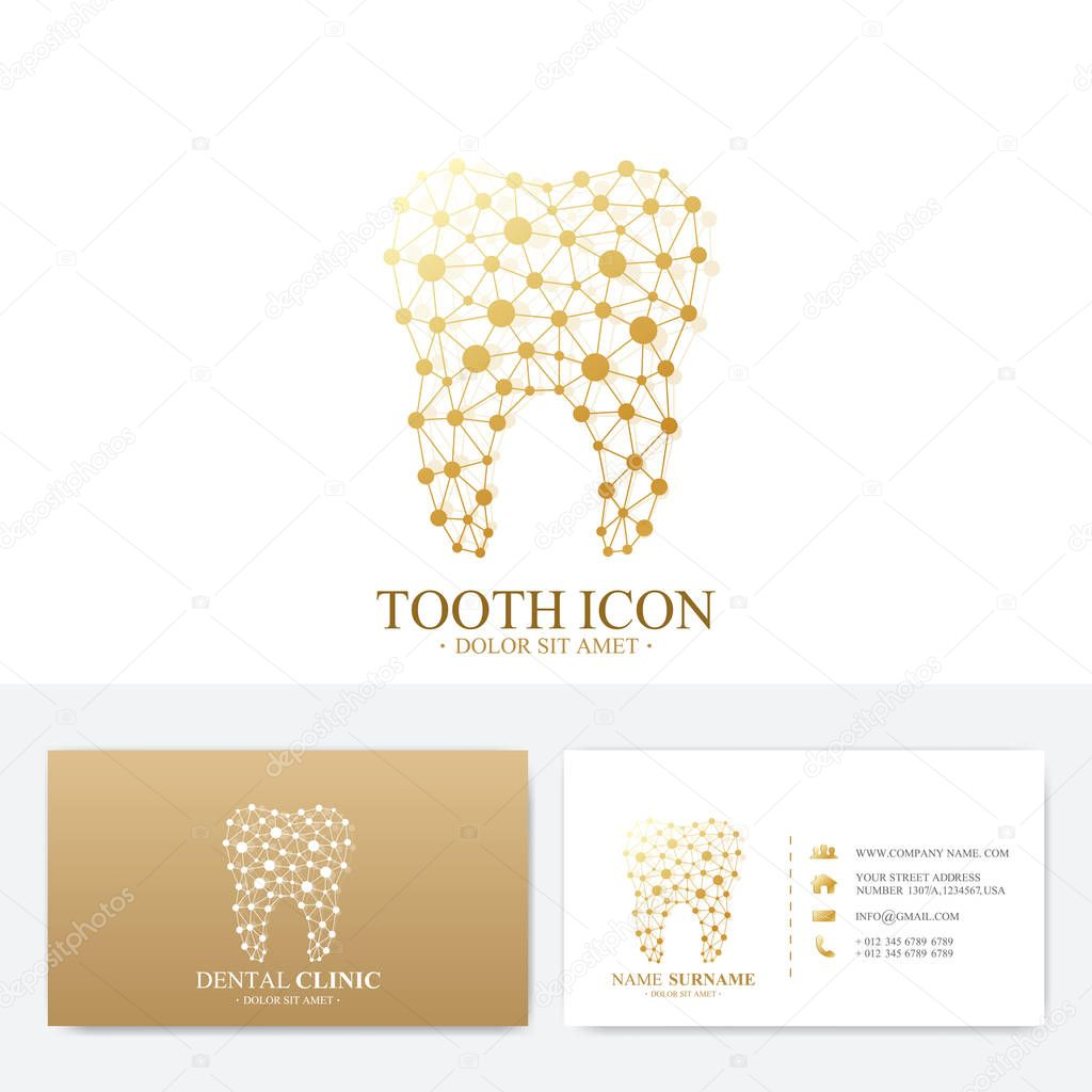 Premium business card print template visiting dental clinic card premium business card print template visiting dental clinic card with tooth logo dentist office colourmoves