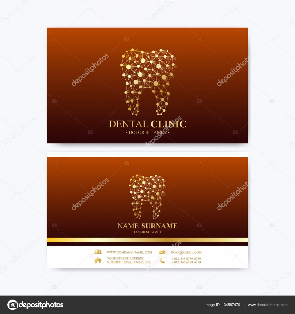 premium business card print template visiting dental clinic card