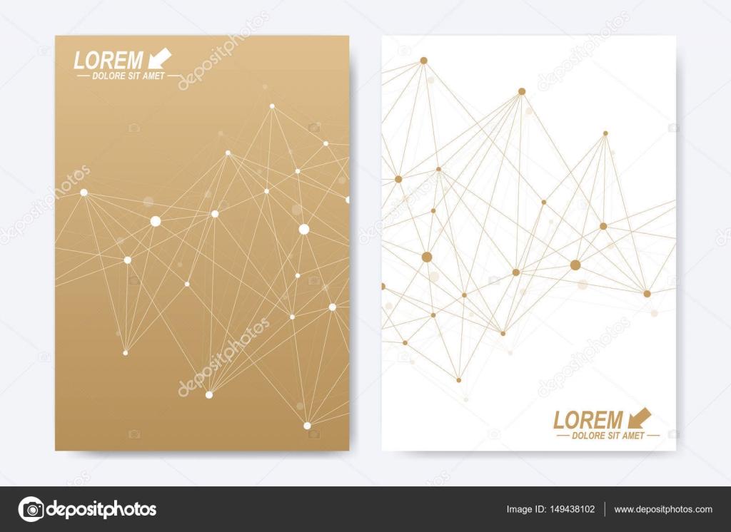 Vektor-Vorlage für die Broschüre, Broschüre, Flyer, Werbung, Cover ...