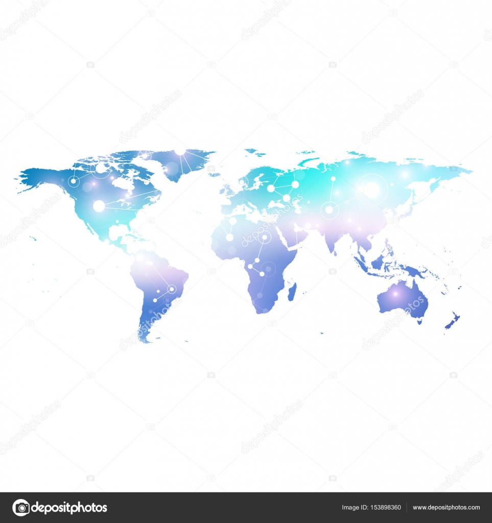 Political world map geometric graphic background communication big political world map geometric graphic background communication big data complex with compounds perspective gumiabroncs Choice Image