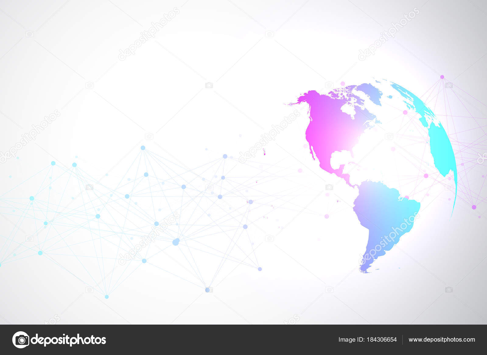 World map point with global technology networking concept digital world map point with global technology networking concept digital data visualization lines plexus big data background communication scientific vector gumiabroncs Image collections
