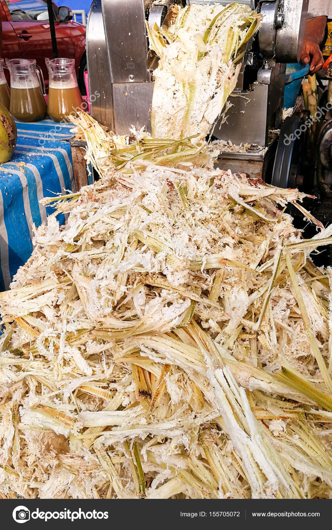 Sugarcane bagasse can be recycled as paper, fuel, renewable
