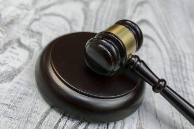 judge gavel on wooden background
