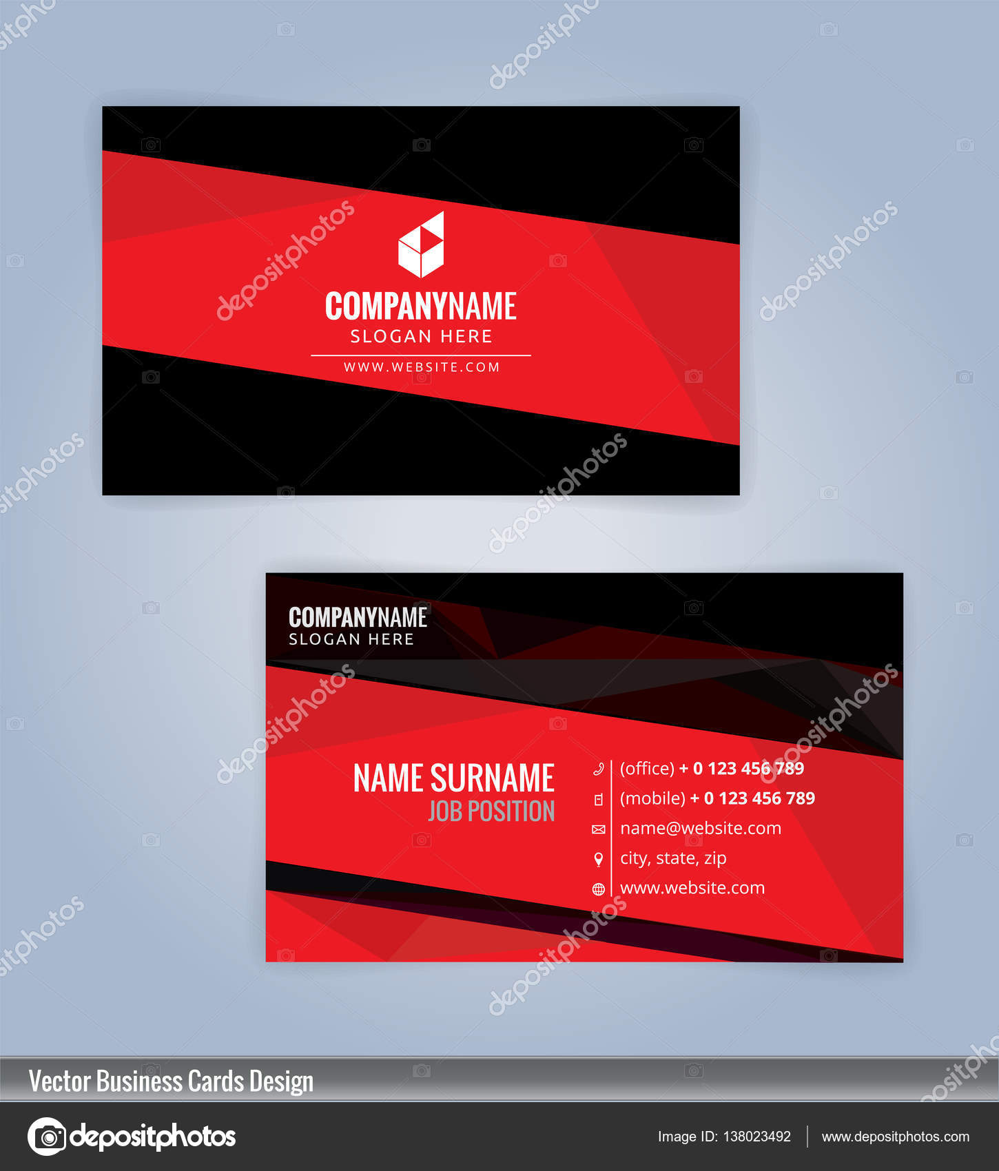 Red and black modern business card template illustration vector 10 red and black modern business card template illustration vector 10 stock vector reheart Images