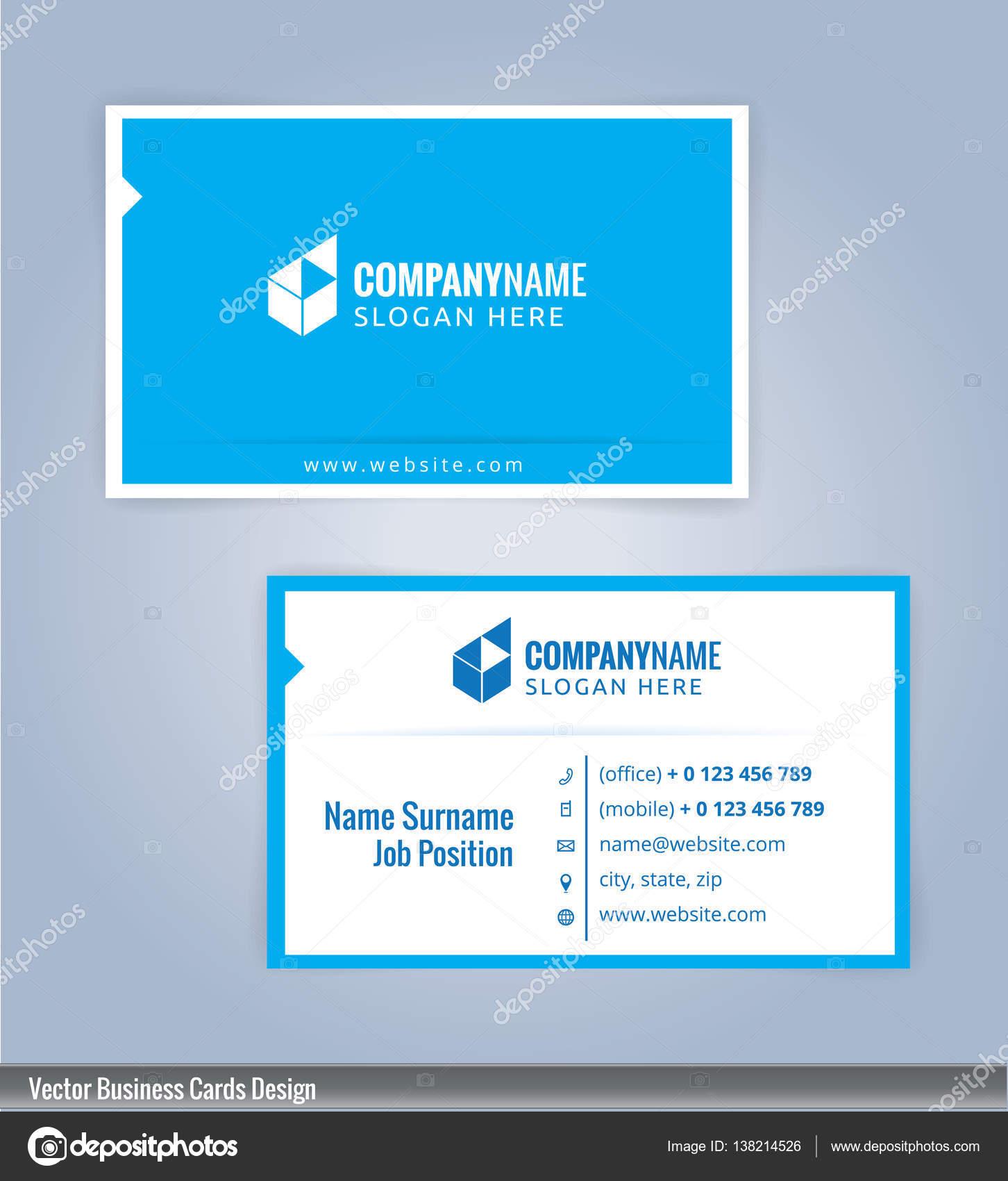 Moderne kreative und saubere Visitenkarte Design-Vorlage. Blaue und ...