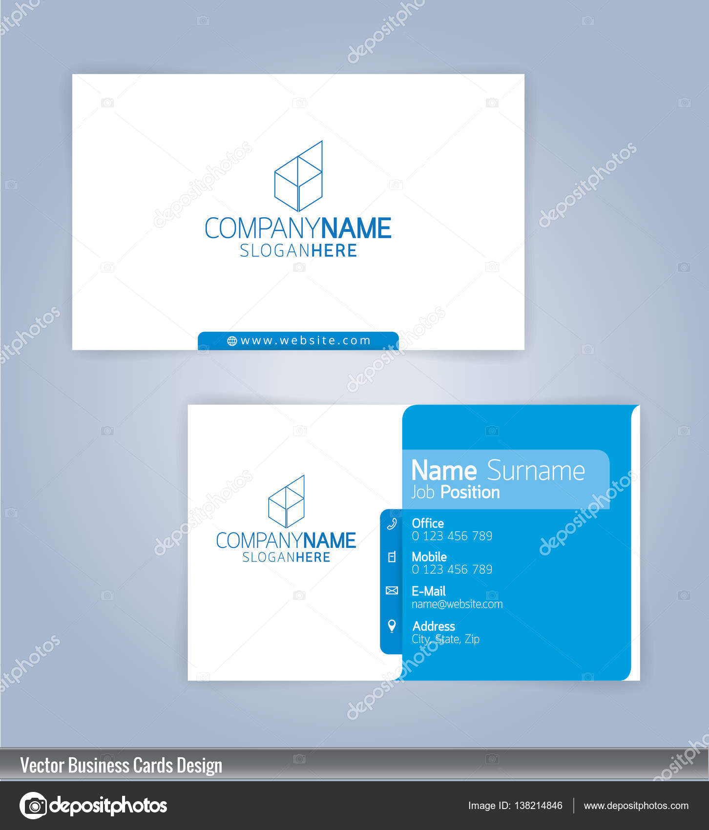 Modern creative and clean business card design template blue and modern creative and clean business card design template blue and white template stock vector reheart Image collections