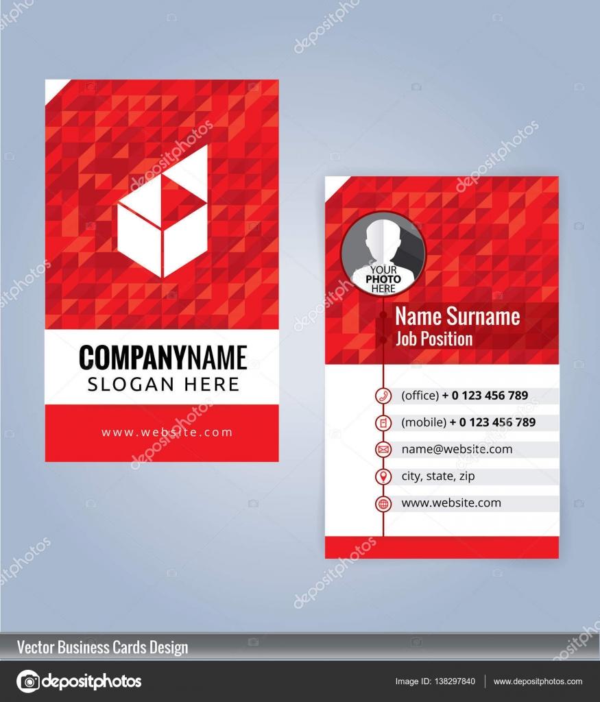 Visitenkarte Vorlage Roter Hintergrund Visitenkarten