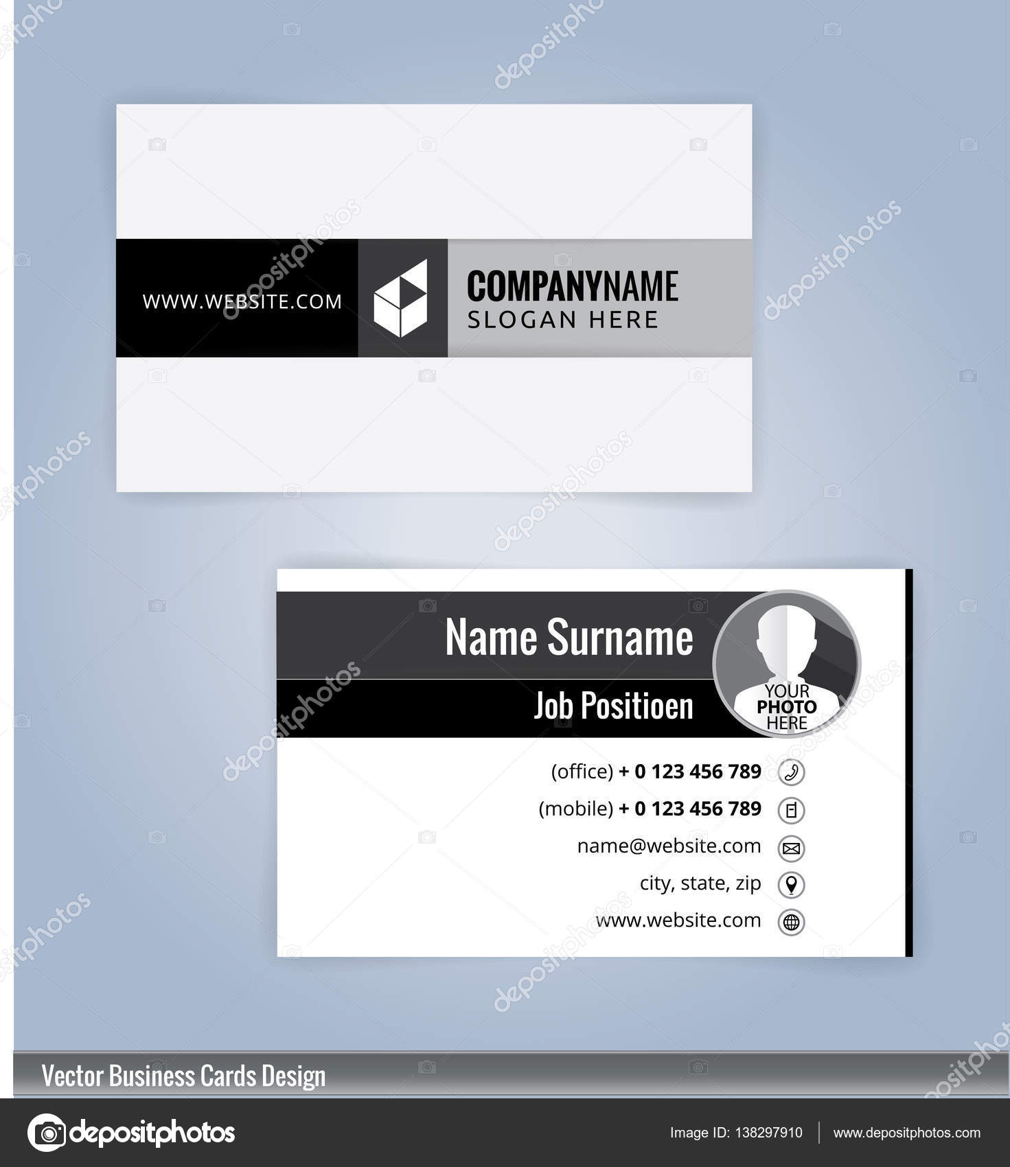 Black and white business card template illustration vector 10 black and white business card template illustration vector 10 vetor de stock reheart Choice Image