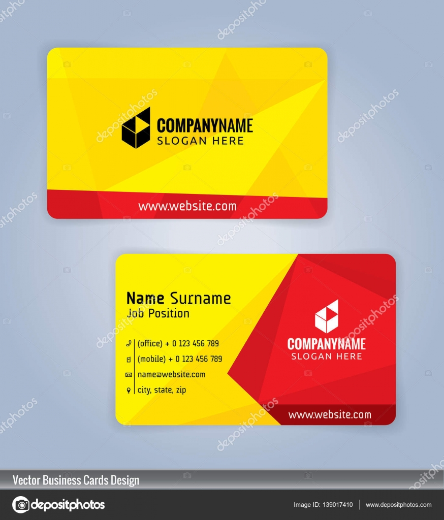 Yellow and red modern business card template illustration vector 10 yellow and red modern business card template illustration vector 10 stock vector accmission Gallery