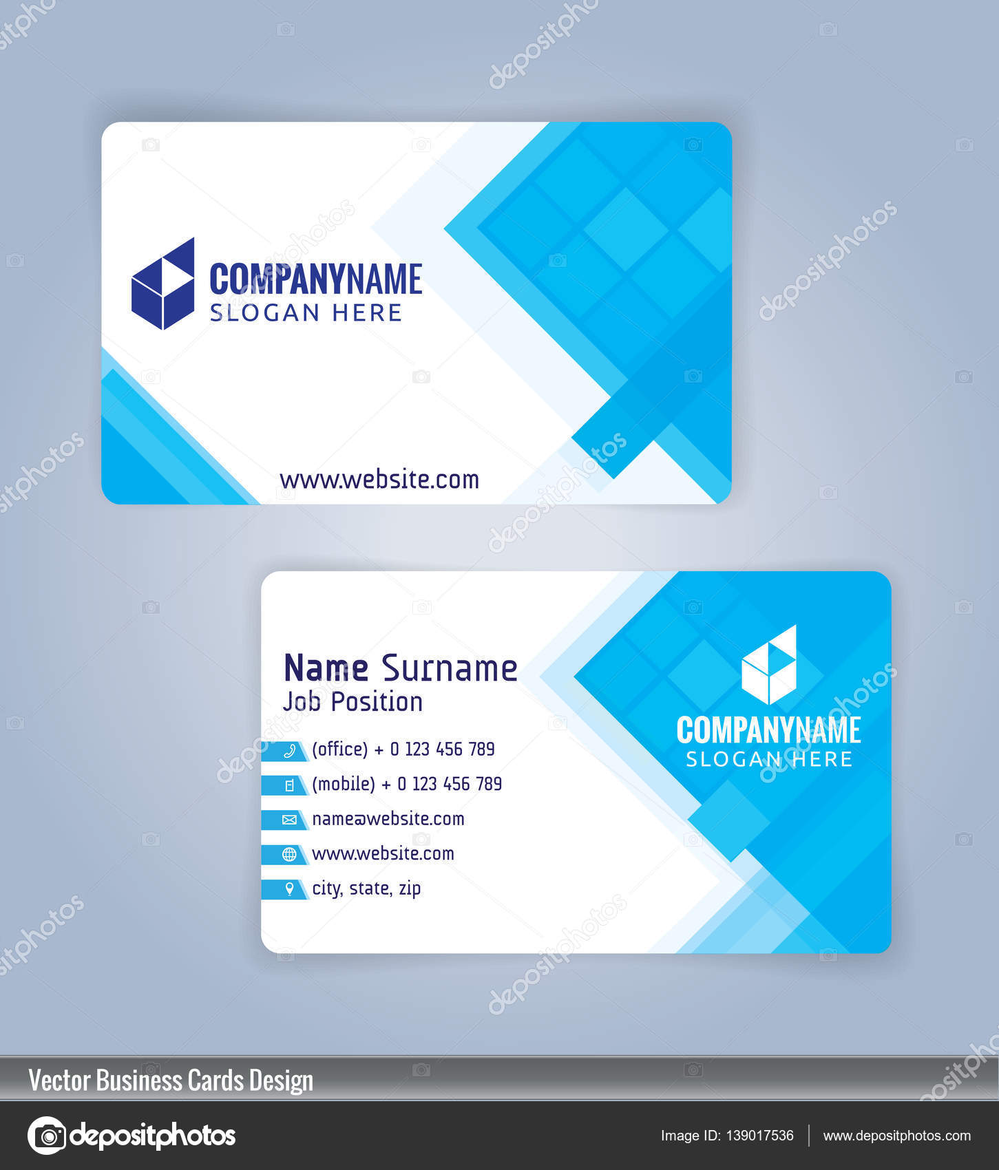 White and blue modern business card template illustration vector 10 white and blue modern business card template illustration vector 10 stock vector cheaphphosting Image collections