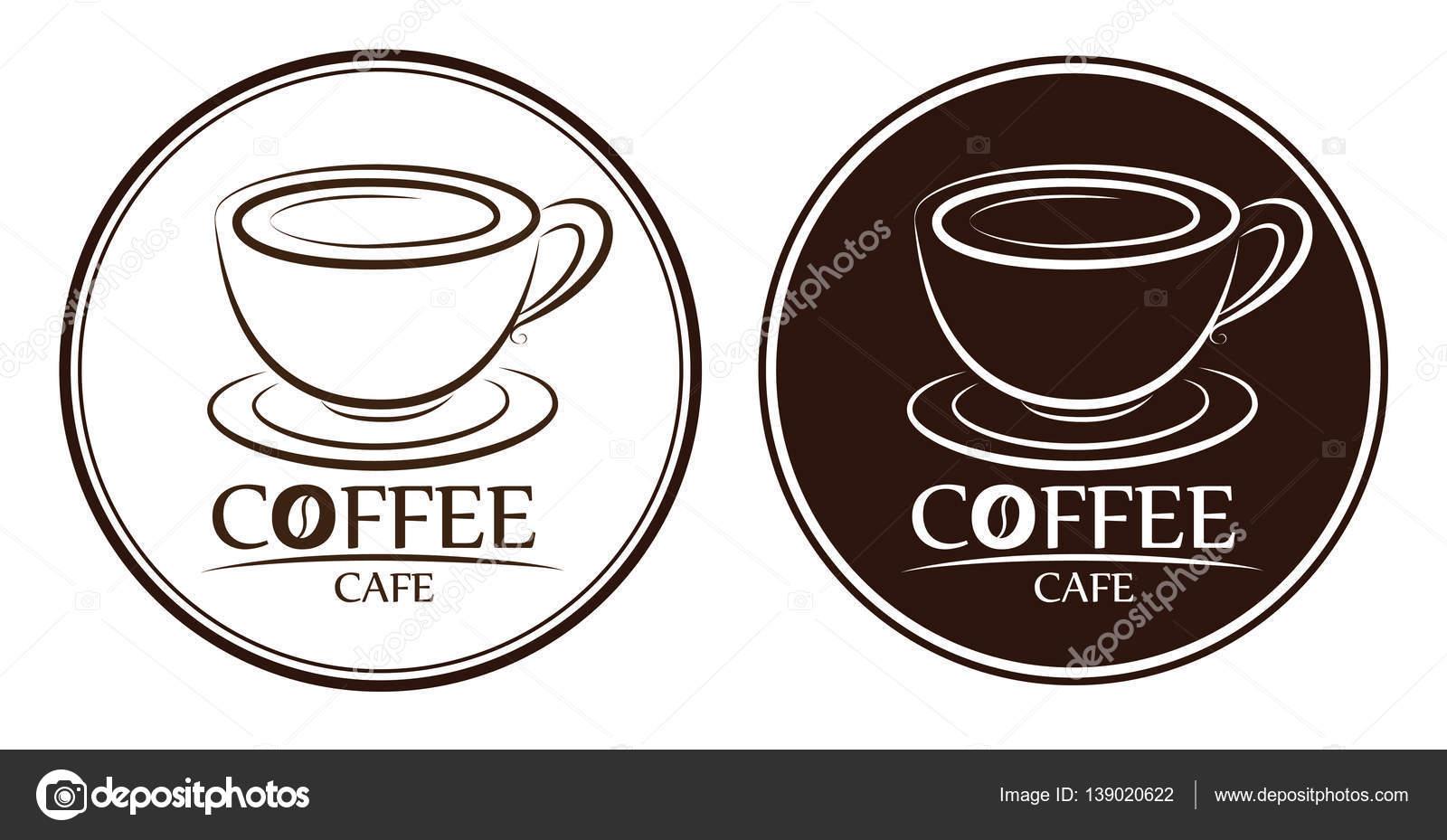 Kaffee-Logo, Beschriftungen, design-Vorlagen — Stockvektor © keangs ...