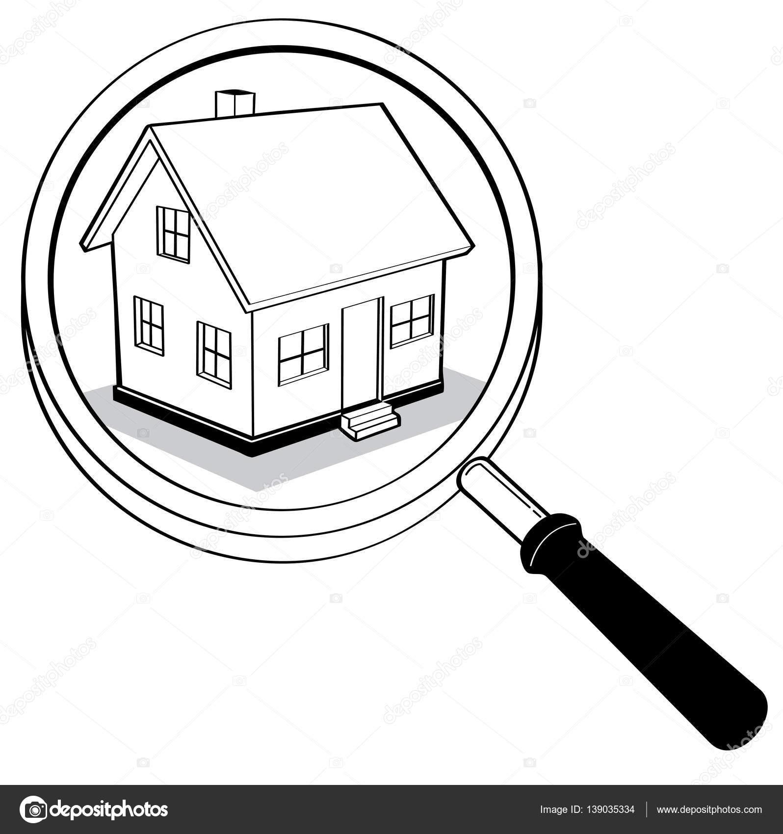 Haus strichzeichnung  und weißen Haus Strichzeichnung, Geschäftskonzept, Illustration ...