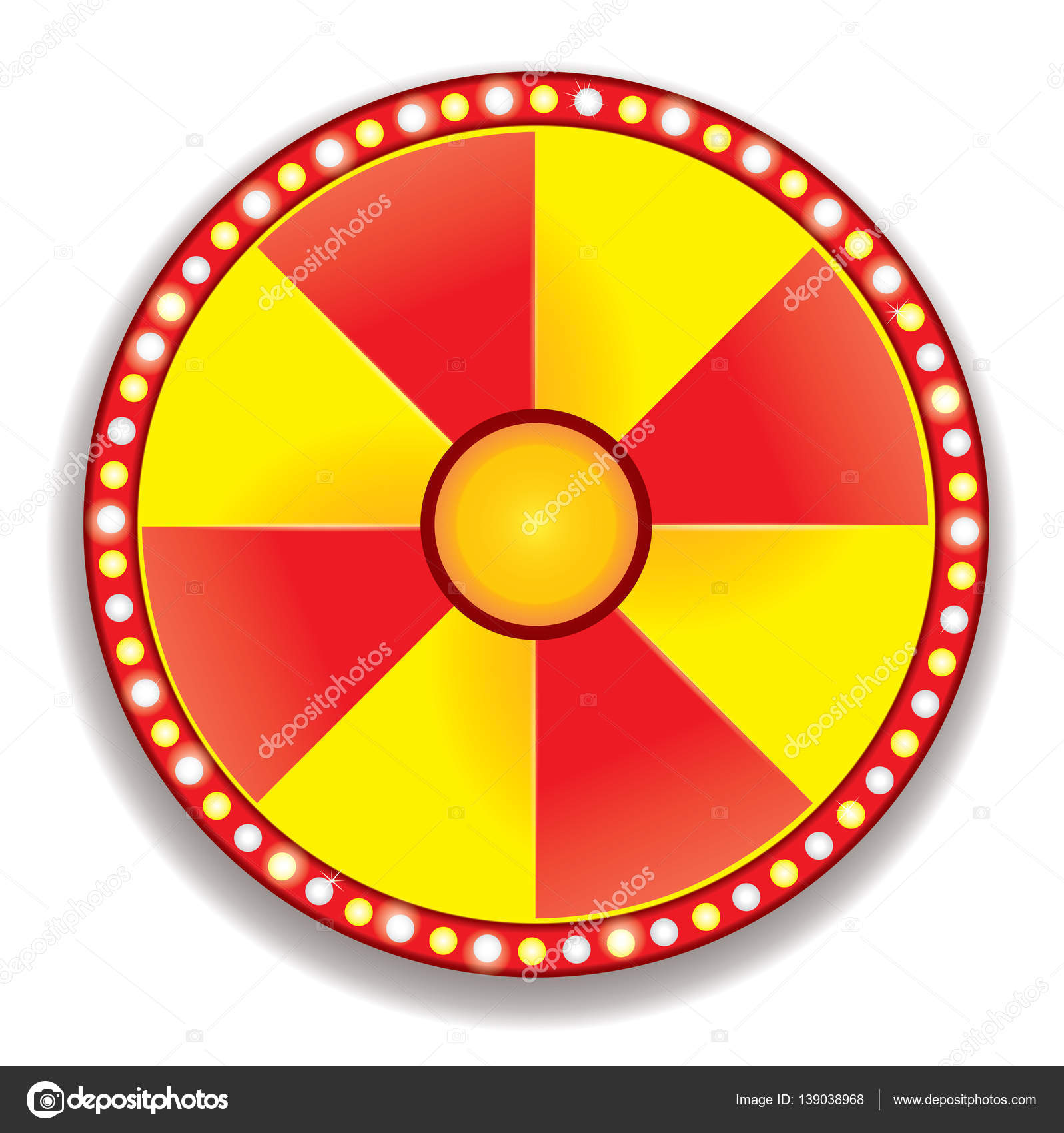 Red And Yellow Color Wheel Of Fortune Stock Vector