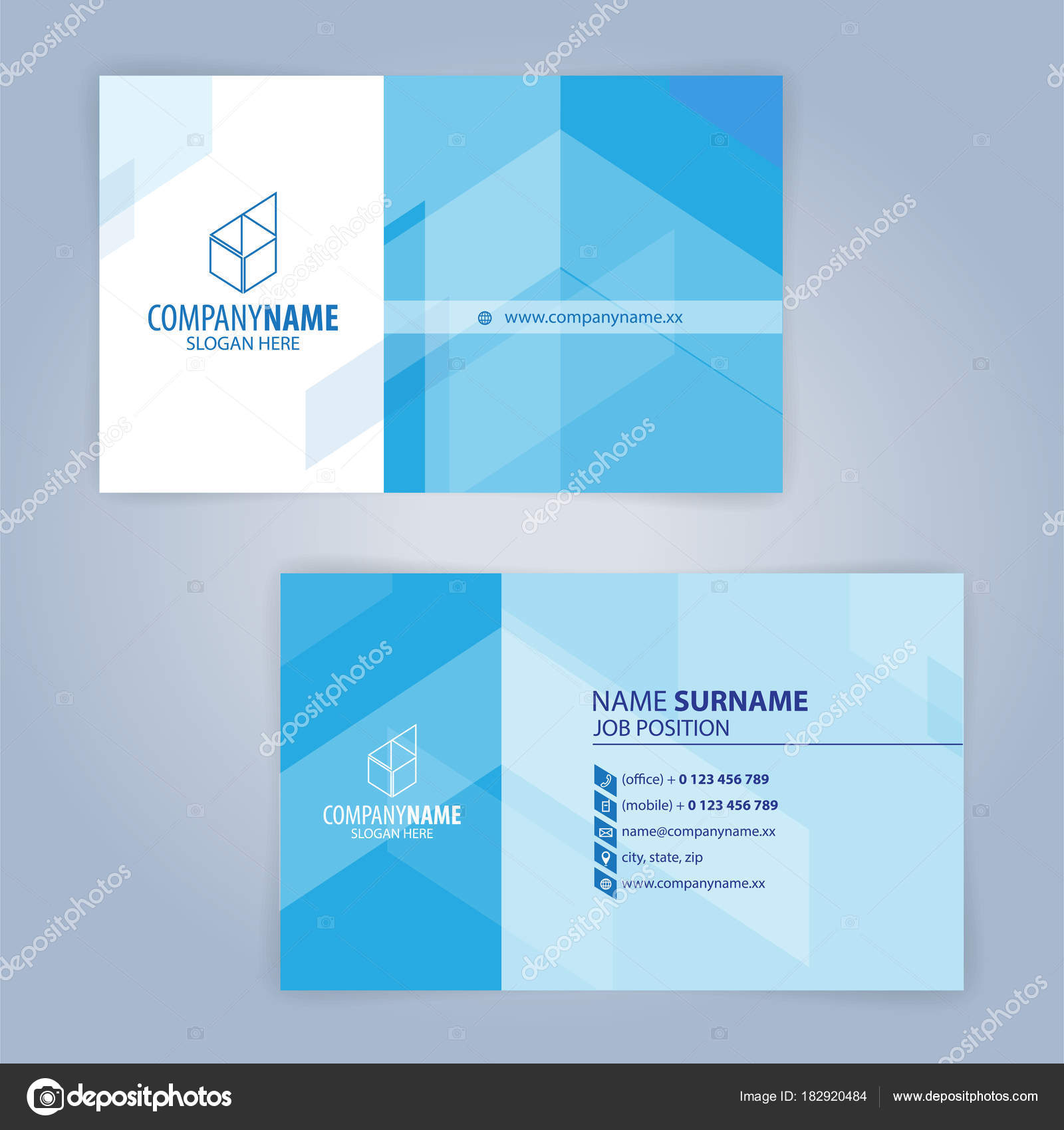 Blue white modern business card template illustration vector stock blue and white modern business card template illustration vector 10 vector by keangs reheart Images